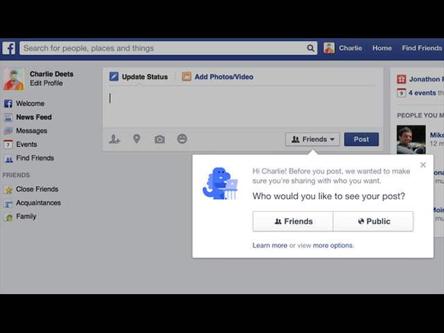 Nouveauté Facebook
