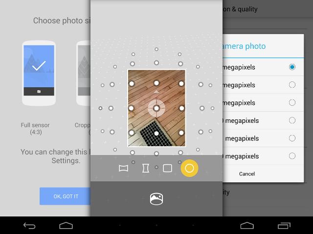 Mise à jour de la Caméra d'Android