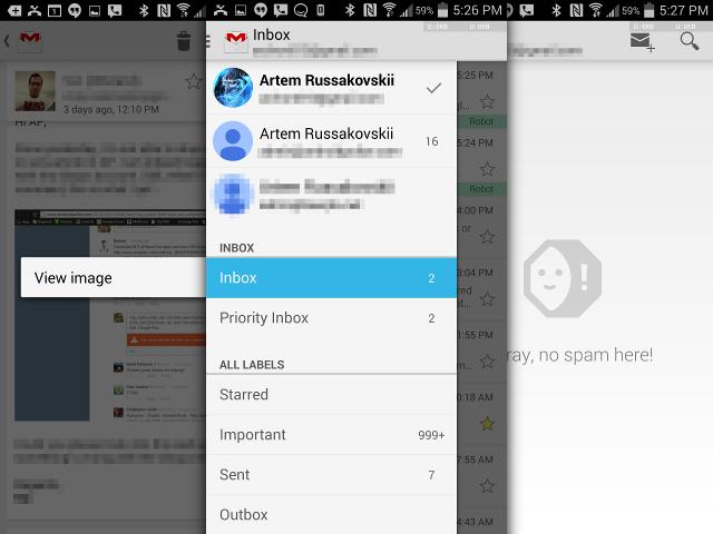 Une mise à jour pour Gmail pour Android