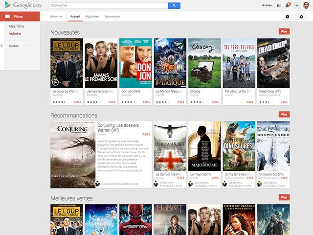 Mode hors ligne Google Play Films