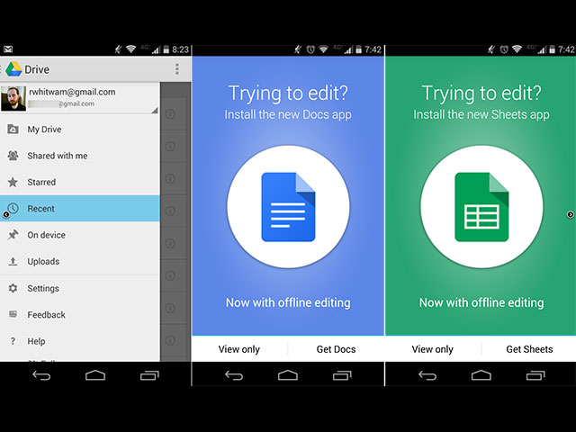 Nouvelle version Google Drive mai14