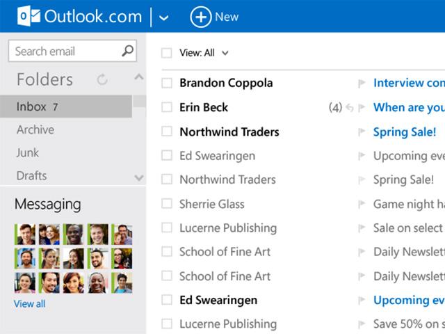New Outlook.com mai14 : capture 1