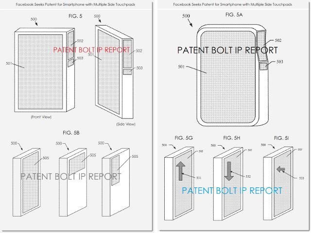 Le smartphone de Facebook dans un brevet