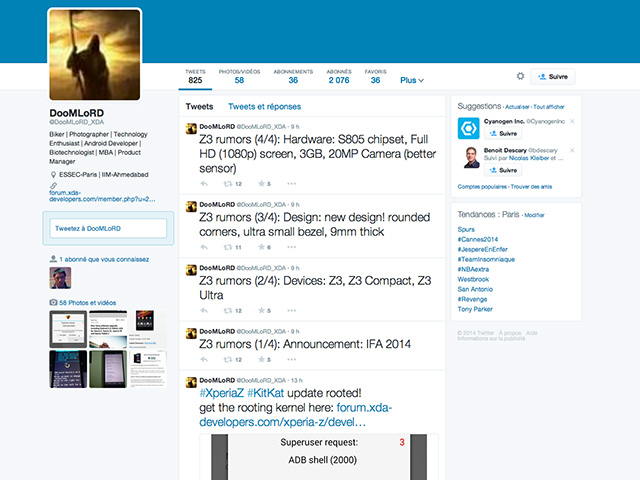 Infos Sony Xperia Z3 mai14