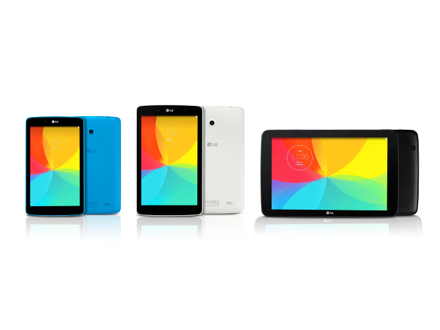 Les LG G Pad en plusieurs coloris