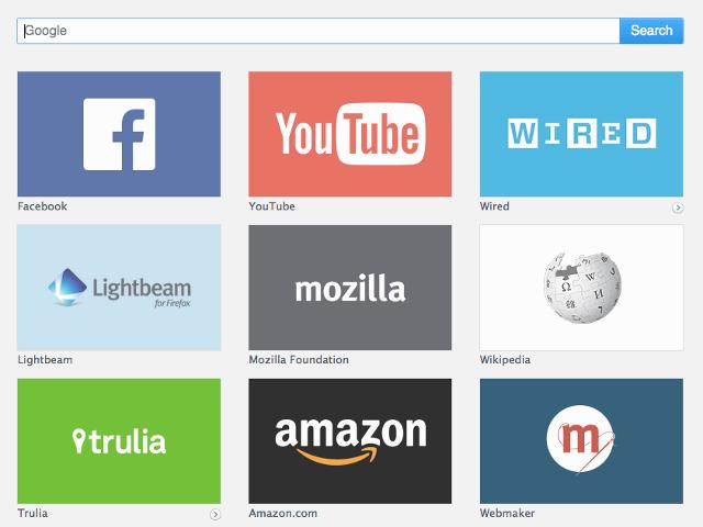 Les tuiles sponsorisées de Firefox ressembleront à ceci