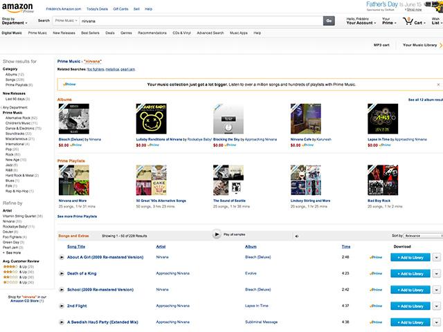 Amazon Music Prime : capture 3