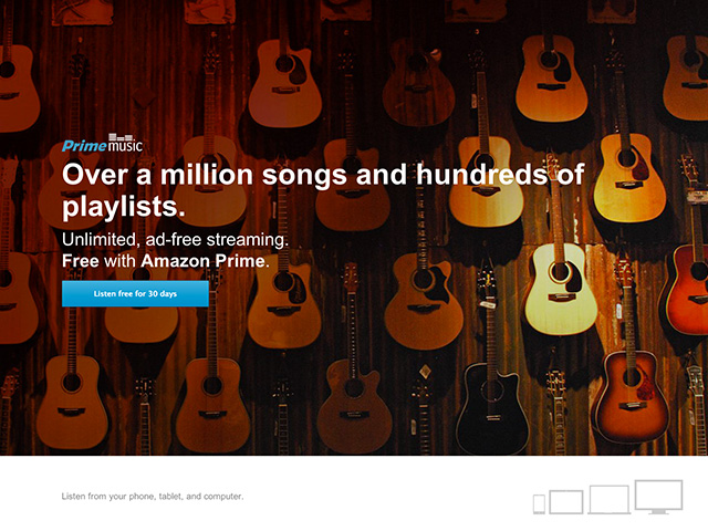 Amazon Music Prime : capture 1