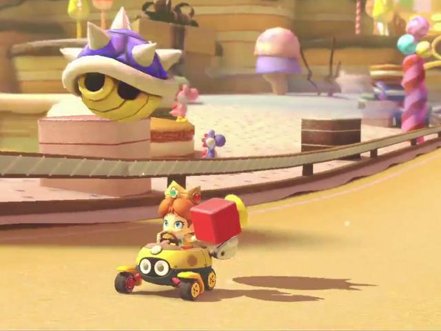 Bébé Daisy va-t-elle être touchée par la menaçante carapace ? Non, car elle a un klaxon, elle !