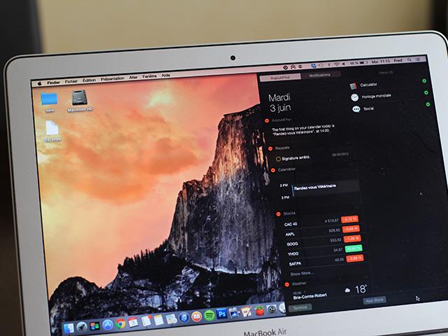 Centre de notifications OS X 10.10 Yosemite