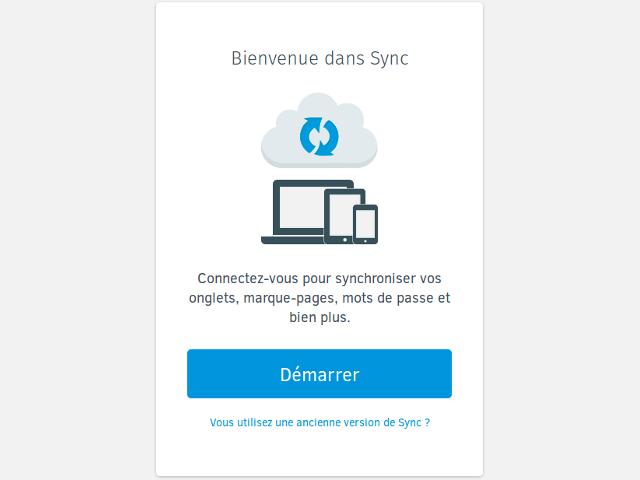 Démarrer Firefox Sync