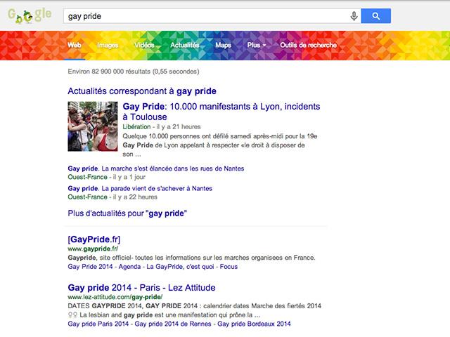 Easer egg gay pride Google