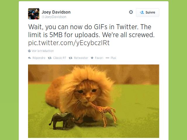 Les GIF débarquent sur Twitter !