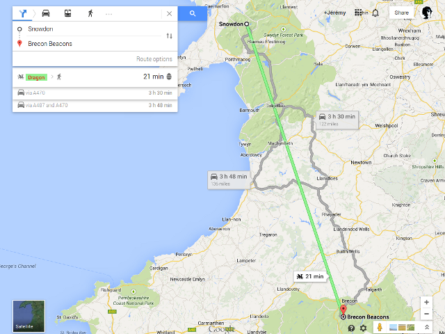 Google Maps avec un dragon, c'est possible !