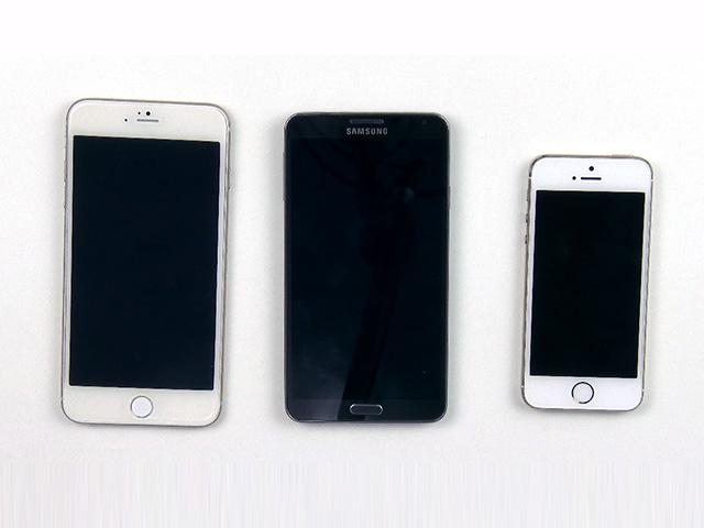 Vidéo iPhone 6 5,5 pouces vs Samsung Galaxy Note 3