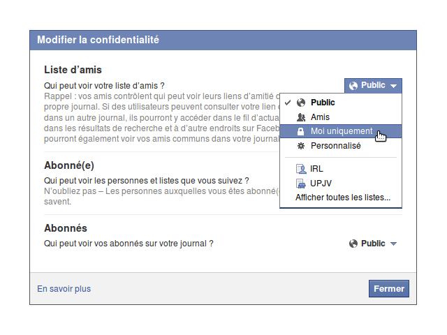 Rendre sa liste d'amis privée sur Facebook, ça sert à rien en fait