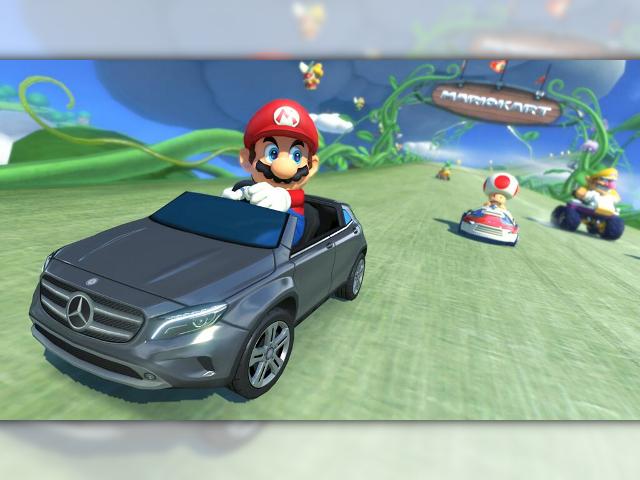Mario Kart 8 fait la pub de Mercedez-Benz