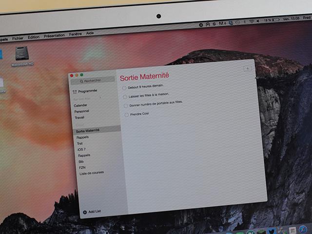 OS X 10.10 Rappels