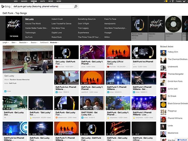Recherche clips Bing