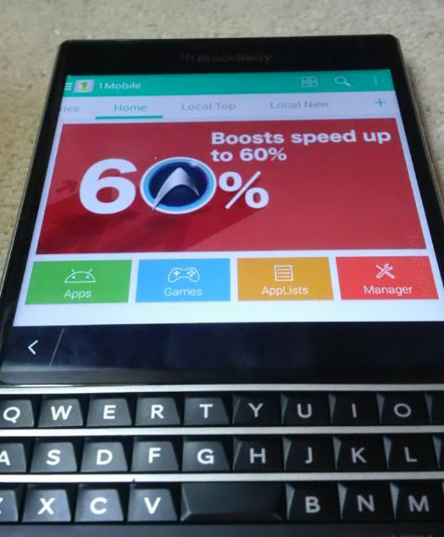 BlackBerry Passport : photo Apps