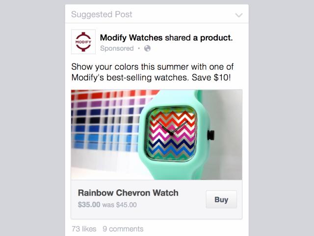 "Le bouton ""Acheter"" de Facebook"