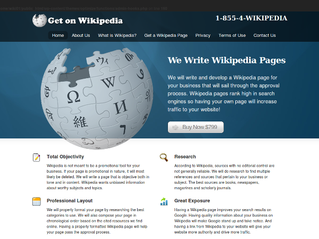 Du contenu sponsorisé sur Wikipédia