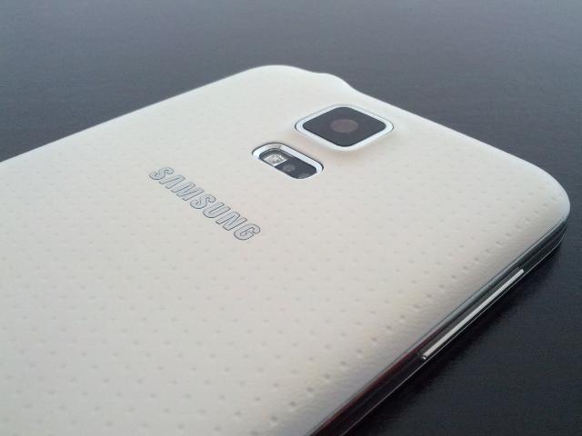 Le détail du dos du Samsung Galaxy S5