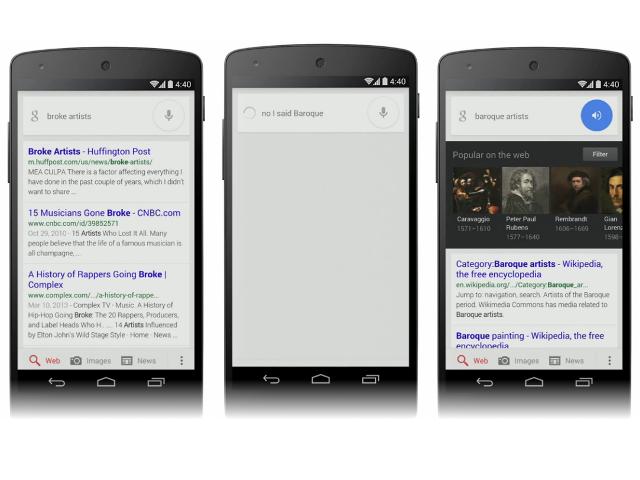 Google Now se fait corriger