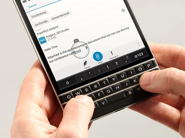 Infos clavier Blackberry Passport