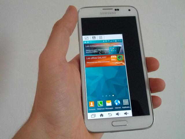 Le mode à une main du Samsung Galaxy S5, pourquoi pas