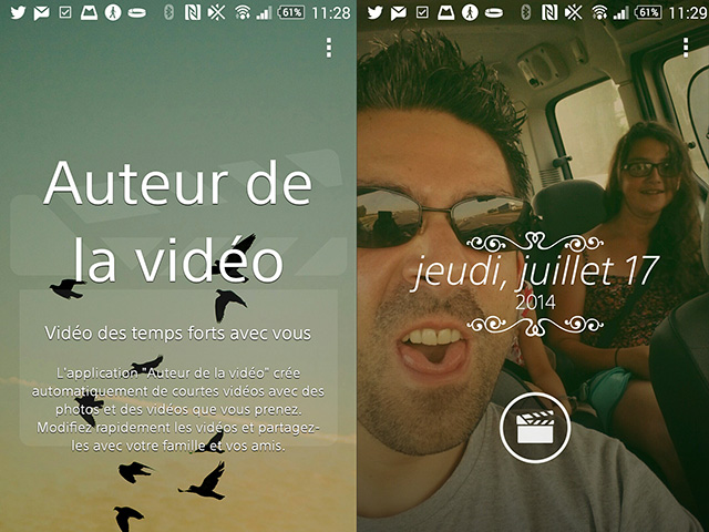 Movie Creator Xperia Z2