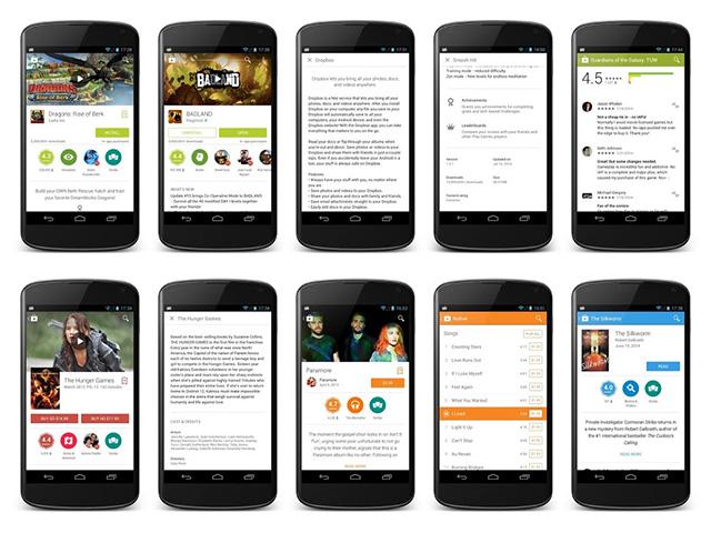 Nouvelle version Google Play