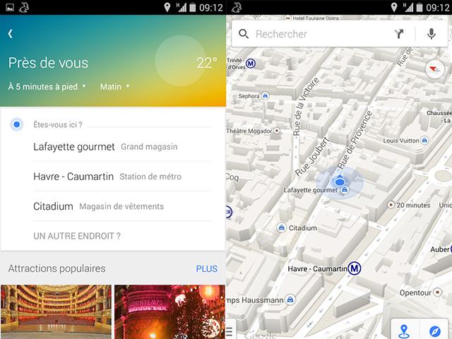 Recommandations Google Maps