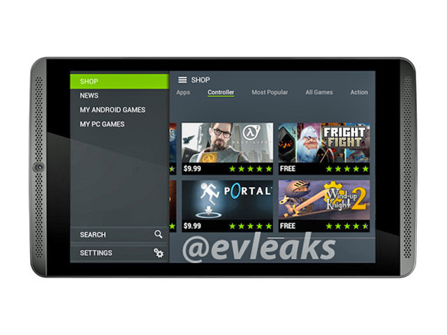 Rendu Nvidia Shield Tablet