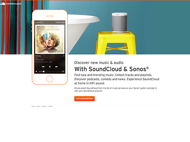 SoundCloud Sonos