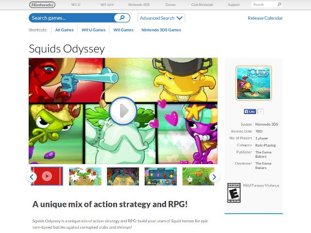 Squids sur le Nintendo eShop