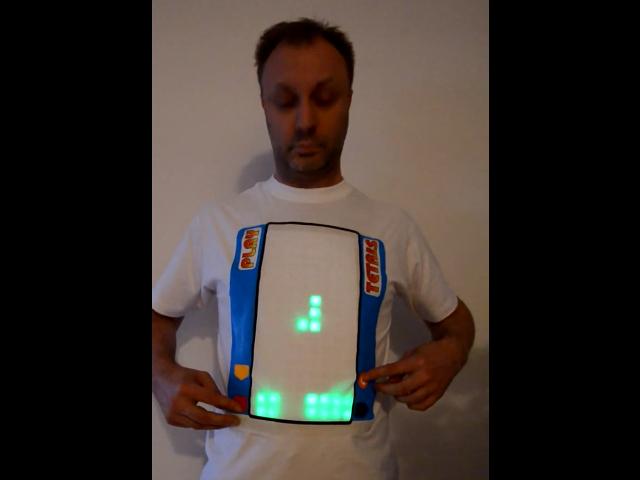 Tetris sur un T-shirt