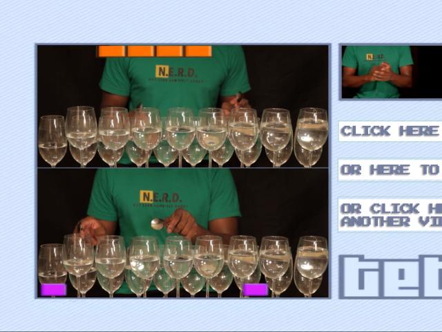 Tetris avec des verres à vin