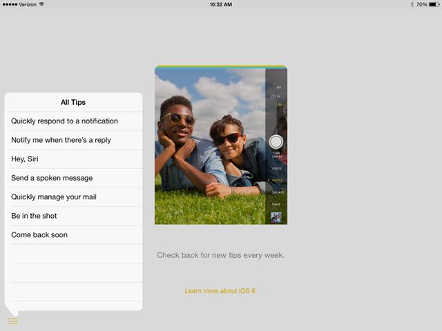 Tips iOS 8 bêta 4