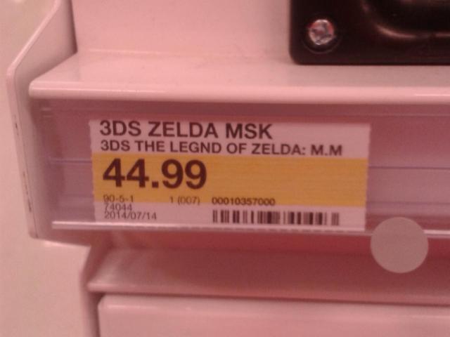 Zelda Majora's Mask 3D chez Target