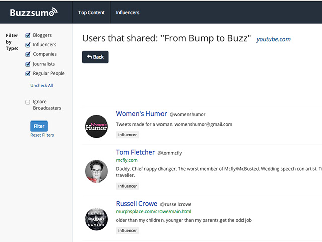 Buzzsumo : capture 3