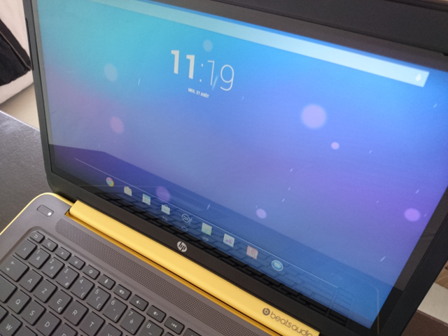 L'écran du HP SlateBook 14