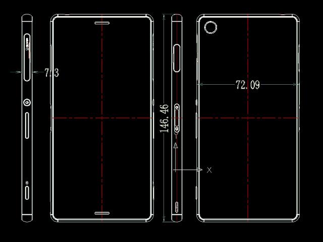 L'épaisseur du Sony Xperia Z3