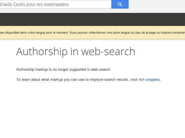 Fin du Google Authorship