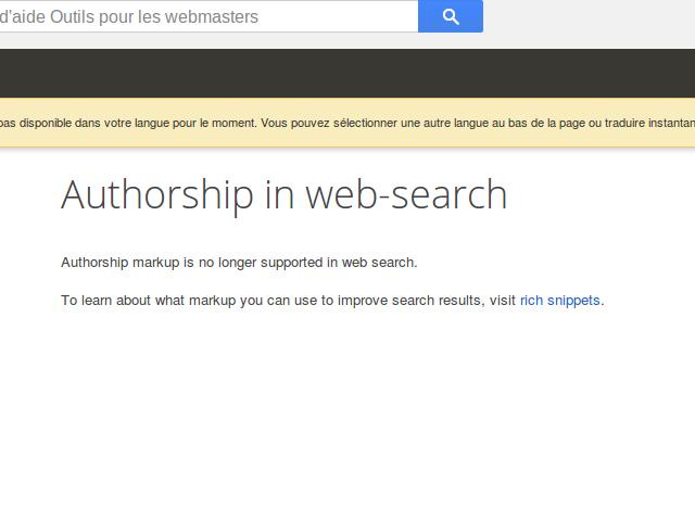 Fin du Google Authorship