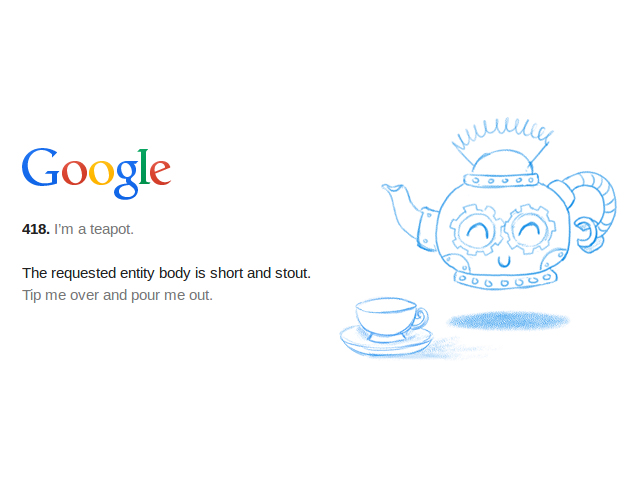 Google est une théière