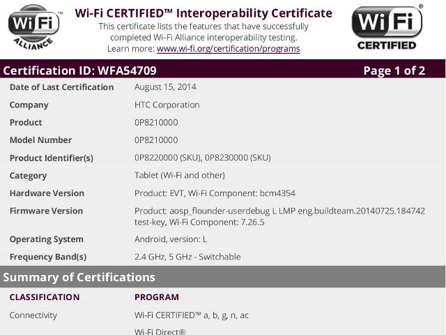 La HTC Flounde promène son Wi-Fi