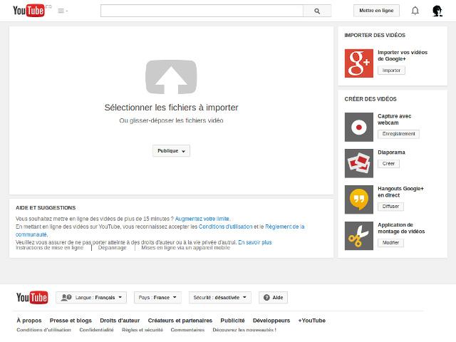 L'importation de vidéos Google+ sur YouTube