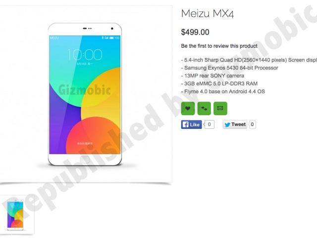Fiche Meizu MX4