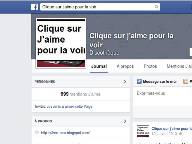 Un exemple de page Facebook qui va bientôt disparaître
